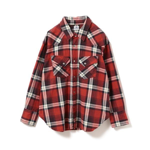 WRANGLER / 別注オーバー チェックシャツ/ビームス ライツ(レディース)(BEAMS LIGHTS)