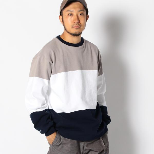 BARBARIAN × ビーミング by ビームス / 別注 3パネル クルーネック Tシャツ/ビーミングライフストア(メンズカジュアル)(Bming lifestore MC)