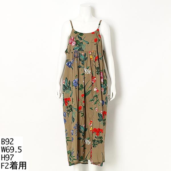 【大きいサイズ】花柄キャミワンピース/ラクープ(LACOUPE)