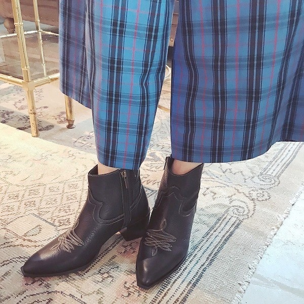 【2018秋冬新作】ウェスタンショートブーツ/076972/オン ブルー(On Bleue)