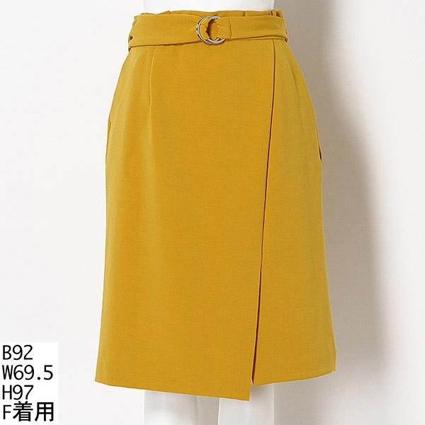 【大きいサイズ】ベルト付 ストレッチタイトスカート/ラクープ(LACOUPE)