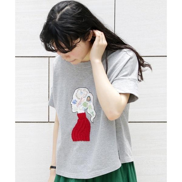 Jo que sueno! 女の子モチーフ デザインカットソー/ホコモモラ(JOCOMOMOLA)