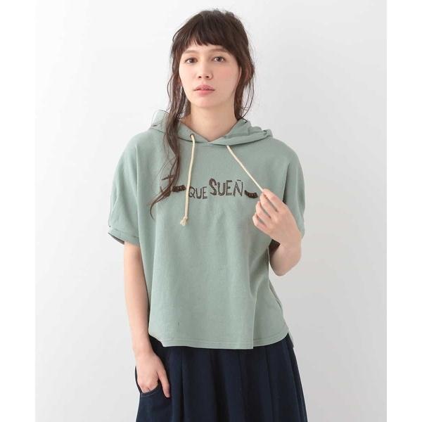 Jo que sueno! フード付き 刺繍半袖プルオーバーカットソー/ホコモモラ(JOCOMOMOLA)