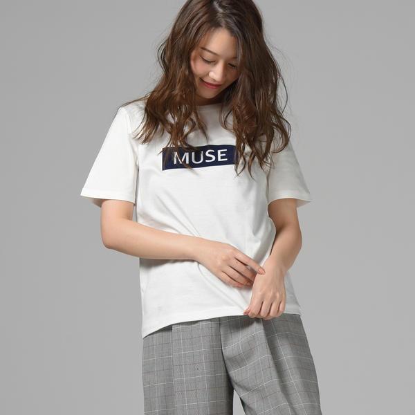 ロゴプリントTシャツ/ドロワットロートレアモン(Droite lautreamont)