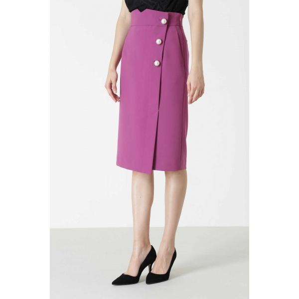 ◆BIGパールポイントカラーラップスカート/ピンキー&ダイアン(PINKY & DIANNE)