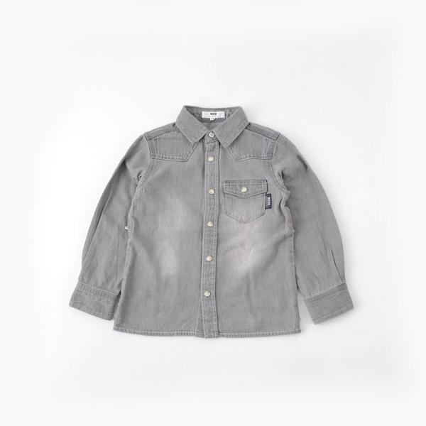 【カタログ掲載】ユニオンジャックデニムシャツ(140cm~160cm)/ワスク(WASK)