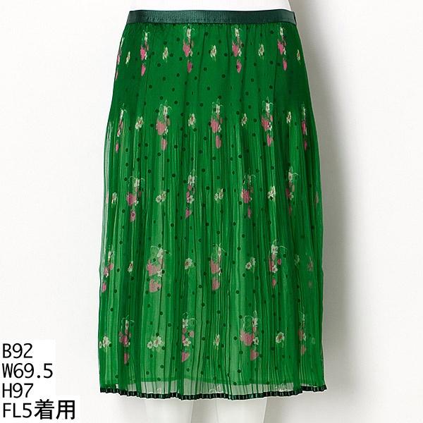 ちらちらいちごプリーツスカート/フランシュリッペ(大きいサイズ)(franche lippee)