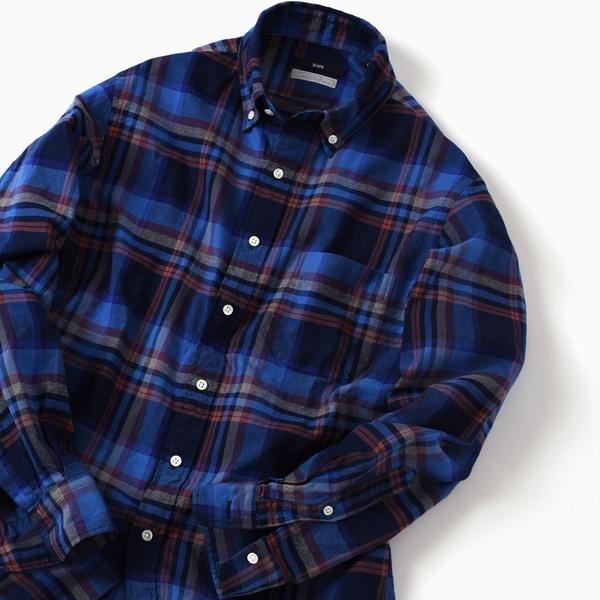 SC: ペルヴィアン ピマ/オックスフォード ボタンダウンシャツ (チェック)/シップス(メンズ)(SHIPS)