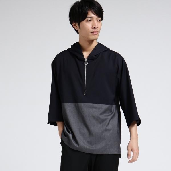 TRフードハーフジップシャツ/ティーケー タケオキクチ(tk.TAKEO KIKUCHI)