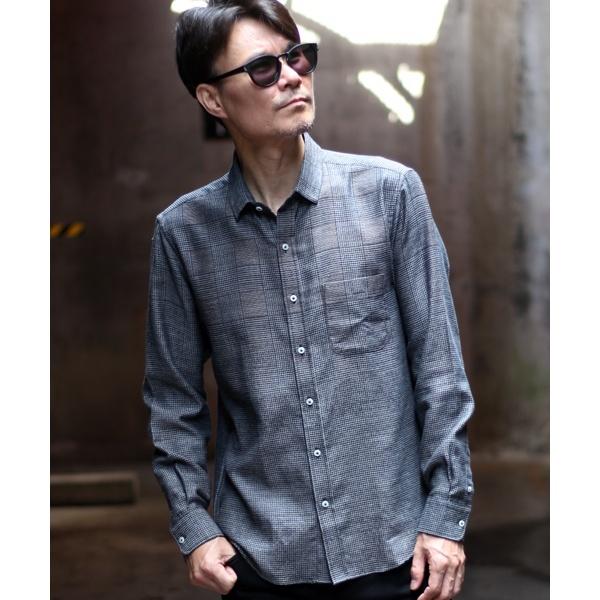 グレンチェック柄グラデーションシャツ/メンズビギ(MEN'S BIGI)