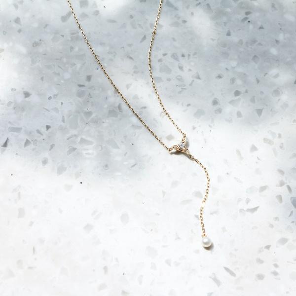 【WEB限定】calm pearl Yネックレス/ジュピター(JUPITER)