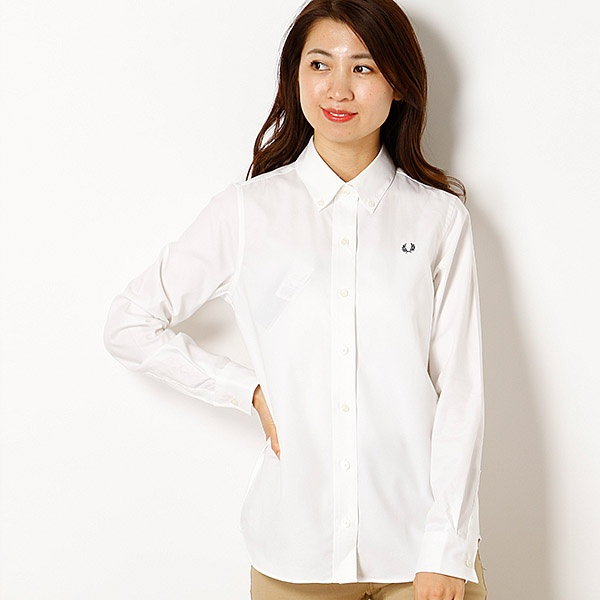 【18AW】OXFORD SHIRT/フレッドペリー(レディス)(FRED PERRY)