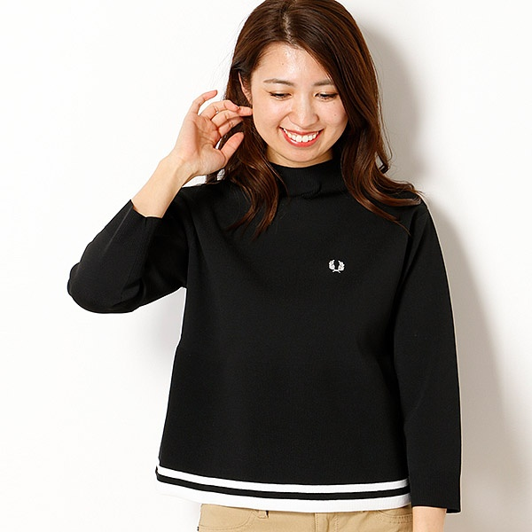 【18AW】MOCK NECK KNITTED SWEATER/フレッドペリー(レディス)(FRED PERRY)