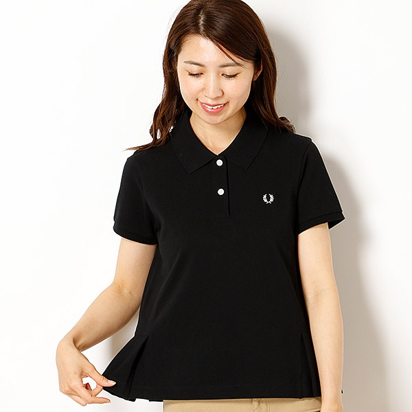 【18AW】PLEATED HEM PIQUE SHIRT/フレッドペリー(レディス)(FRED PERRY)