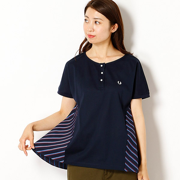 【18AW】PLEAT BACK PIQUE SHIRT/フレッドペリー(レディス)(FRED PERRY)