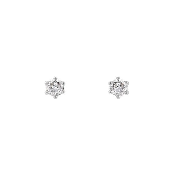 プラチナ ダイヤモンド ピアス (0.2ct)/エステール(ESTELLE)「不良品のみ返品を承ります」