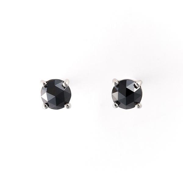 プラチナ ブラックダイヤモンド ピアス (0.2ct)/エステール(ESTELLE)
