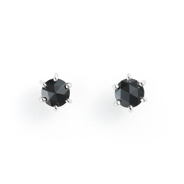 K18 ホワイトゴールド ブラックダイヤモンド ピアス(0.3ct)/エステール(ESTELLE)「不良品のみ返品を承ります」