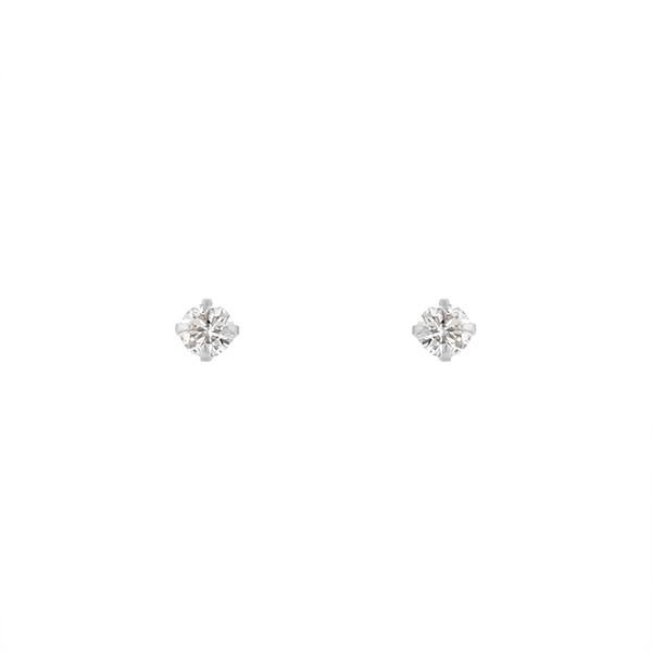 K10 ホワイトゴールド ダイヤモンド ピアス/エステール(ESTELLE)「不良品のみ返品を承ります」