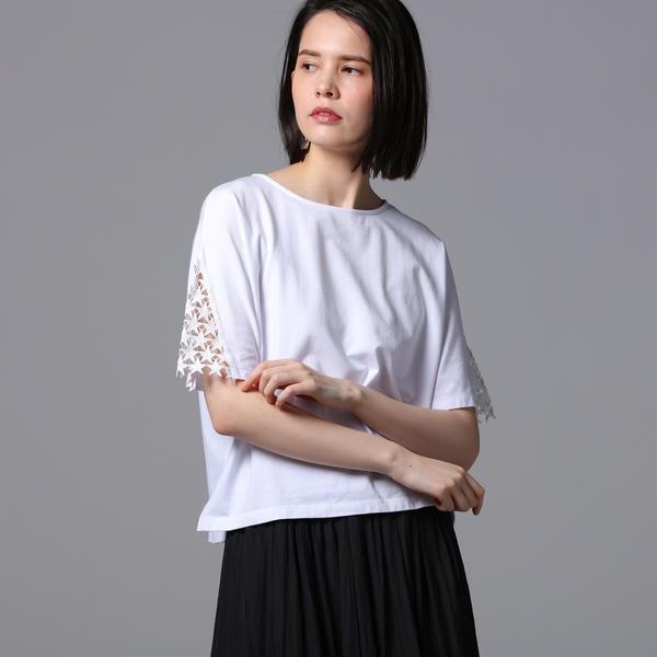 【洗濯機可能】スリーブスターレースカットソー/ベガ(vega)