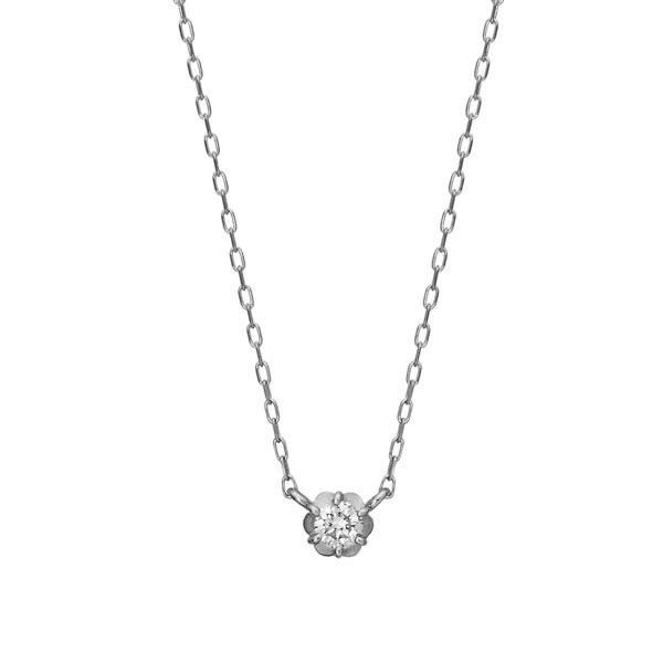 プラチナ フィオレットセッティング 一粒ダイヤモンドネックレス 0.07ct/テイクアップ ピュア(TAKE-UP Pure)