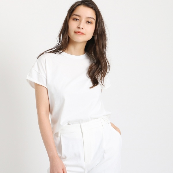 【洗える】クルーネック ワンウォッシュTシャツ/ドレステリア(レディス)(DRESSTERIOR Ladies)