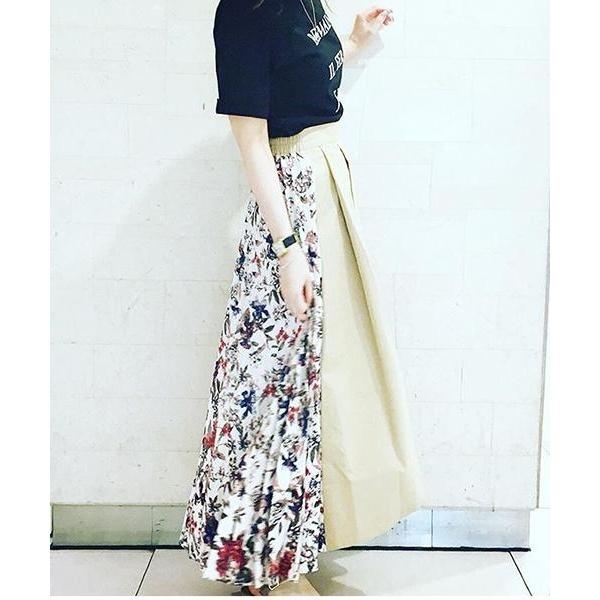 【KATHARINE ROSS】 ジャガードフラワープリントプリーツスカート/キャサリンロス(KATHARINE ROSS)