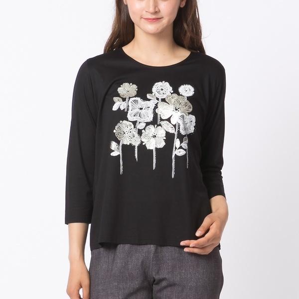 全2色【大きいサイズ】【L・LL】フラワープリントTシャツ/ピサーノ(PISANO)