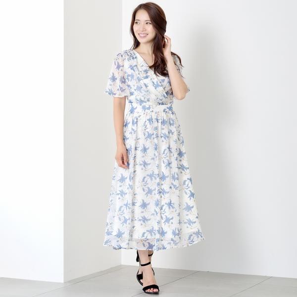 カシュクールロングワンピース/ミューズ リファインド クローズ(MEW'S REFINED CLOTHES)