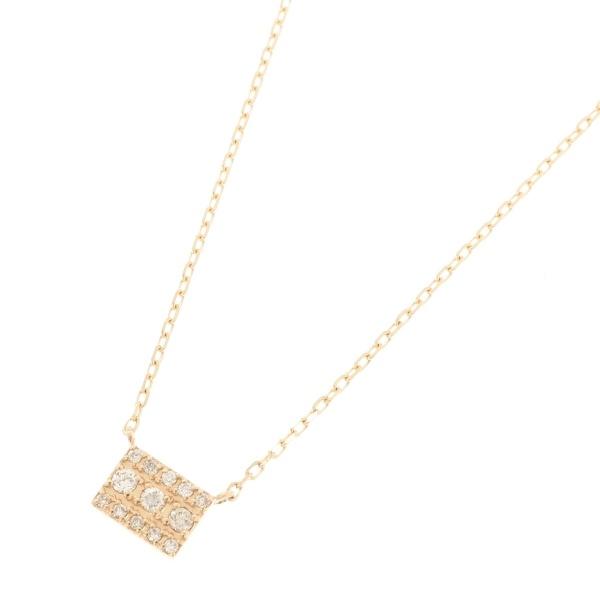 ダイヤモンド パヴェスクエア ネックレス/ココシュニック(COCOSHNIK)