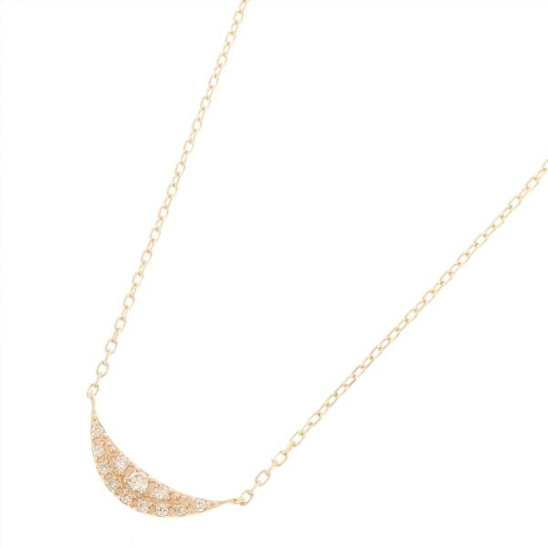 ダイヤモンド パヴェ月形 ネックレス/ココシュニック(COCOSHNIK)