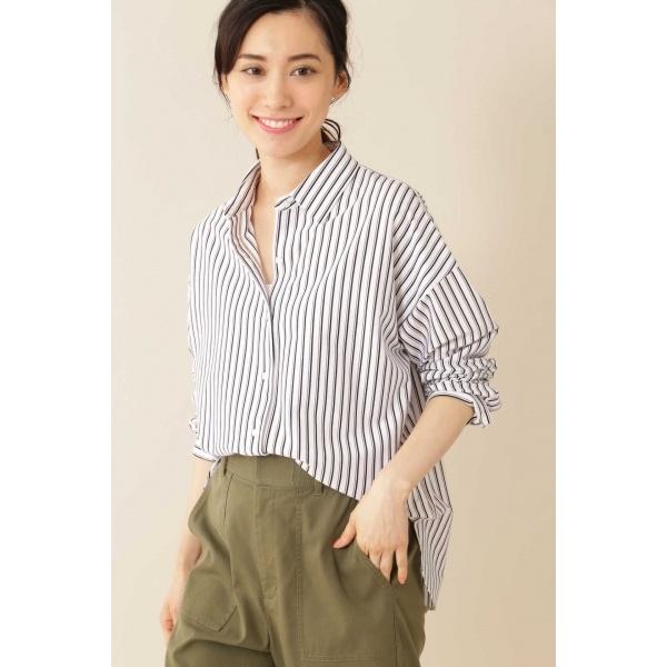 [Weekend Line]ジャージーシャツ(ストライプ)/ヴァンドゥー・オクトーブル(Lサイズ)(22 OCTOBRE)