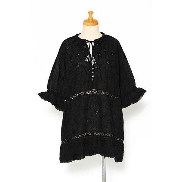 【大きいサイズ】ハーモニー刺繍ロングBL/アズノゥアズオオラカ(AS KNOW AS olaca)