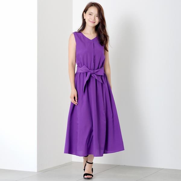 後シャーリングロングワンピース/ミューズ リファインド クローズ(MEW'S REFINED CLOTHES)
