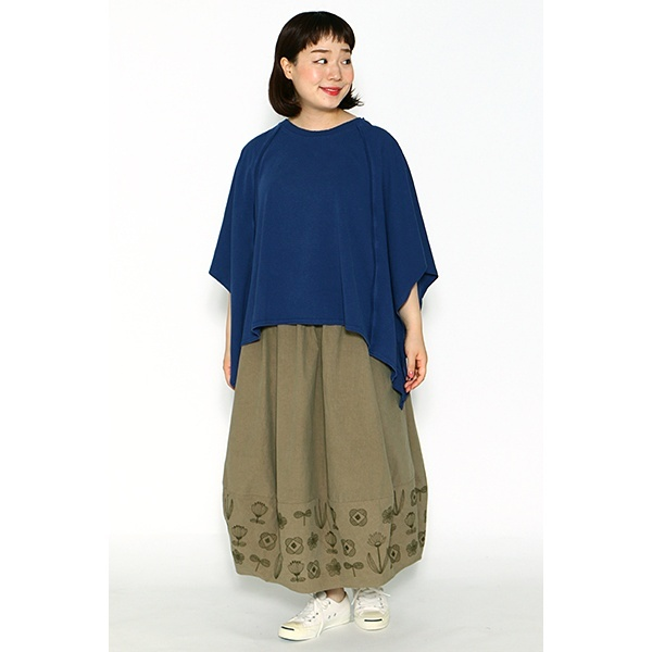 【大きいサイズ】花刺繍とびとびSK/アズノゥアズオオラカ(AS KNOW AS olaca)