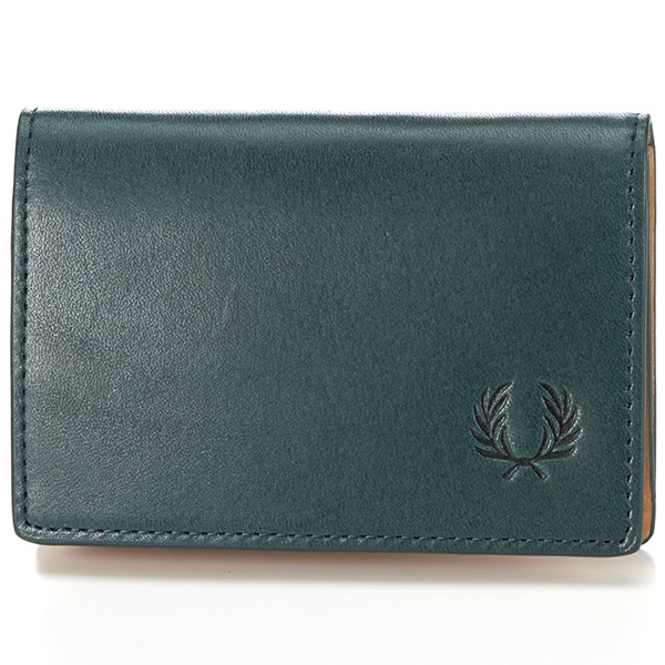 【18AW】LEATHER CARD CASE/フレッドペリー(雑貨)(FRED PERRY)