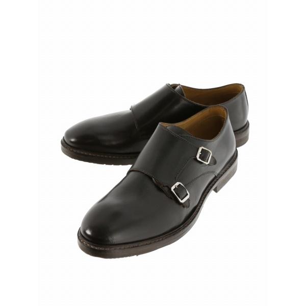 ADOLFO CARLI ダブルモンクビジネスドレスシューズ/アラウンド ザ シューズ(around the shoes)