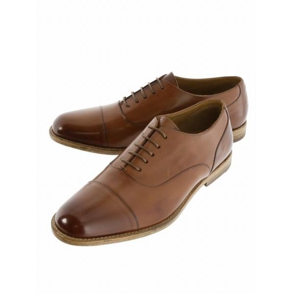 ADOLFO CARLI 内羽根レースレスビジネスドレスシューズ/アラウンド ザ シューズ(around the shoes)