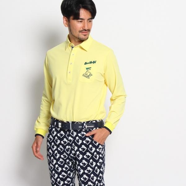 MTシャツ(【日本製】ゴルフカートモチーフ長袖ポロシャツ)/アダバット(メンズ)(adabat(Mens))