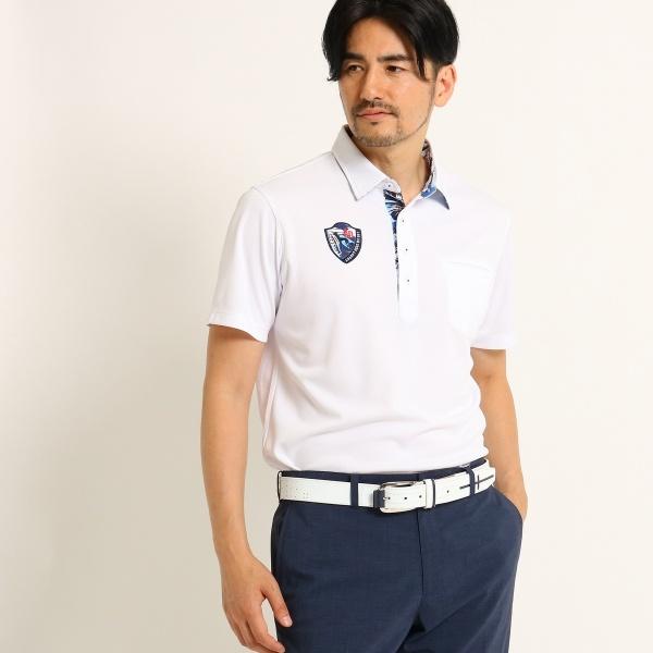 MTシャツ(【UVカット】【吸水速乾】 ボタニカル柄 半袖 ポロシャツ メンズ)/アダバット(メンズ)(adabat(Mens))