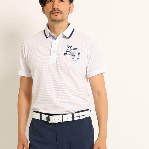 【UVカット】【吸水速乾】カモフラージュ柄半袖ポロシャツ/アダバット(メンズ)(adabat(Mens))