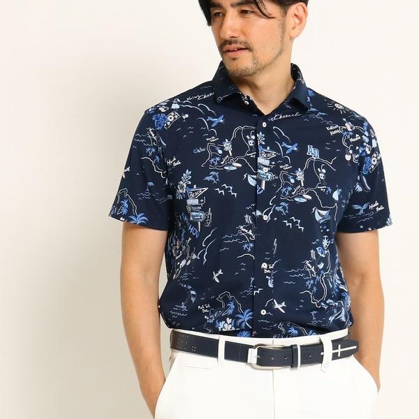MTシャツ(【吸水速乾】ハワイモチーフイラスト半袖ジャージシャツ)/アダバット(メンズ)(adabat(Mens))