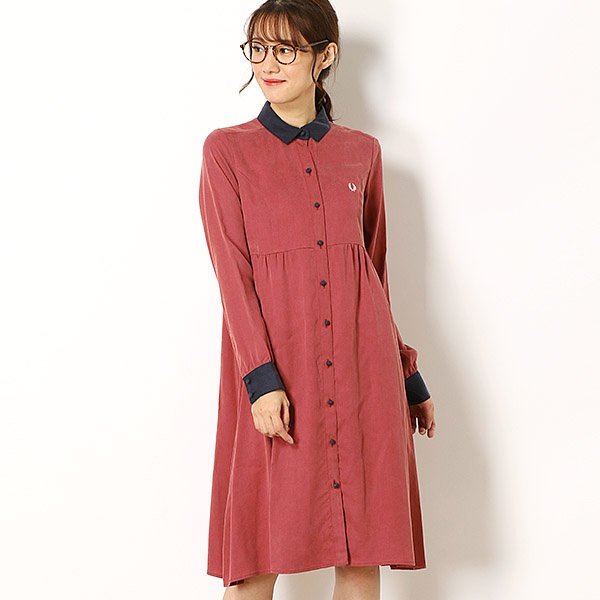 【18AW】SHIRT DRESS/フレッドペリー(レディス)(FRED PERRY)