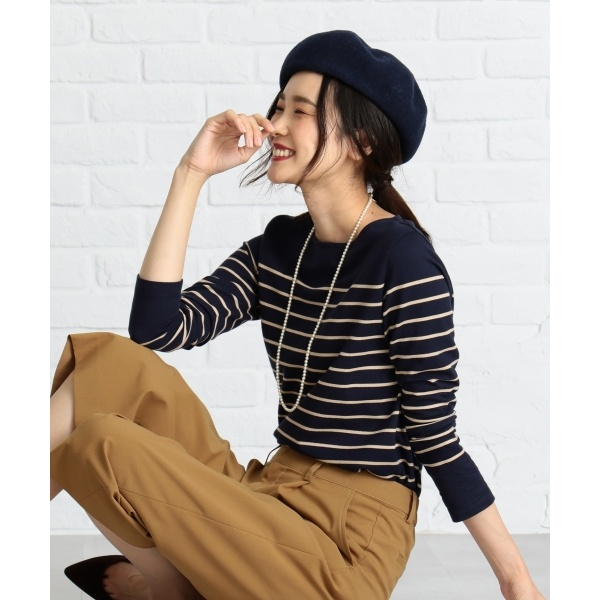 【定番人気】バスクボーダー Tシャツ/ジェイ・プレス レディース L(J.PRESS LADIES L)