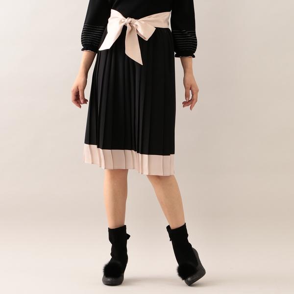★★ノルディスジョーゼットプリーツスカート/トゥービーシック(TO BE CHIC)
