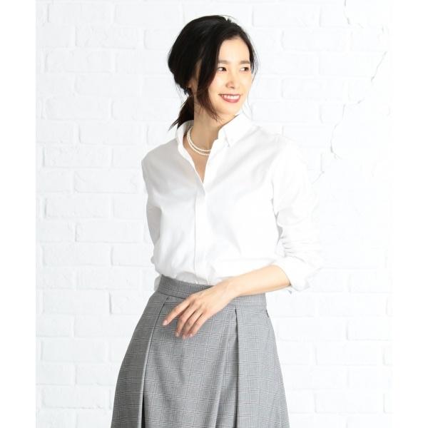 【洗える】100/2オックス シャツ/ジェイ・プレス レディース L(J.PRESS LADIES L)