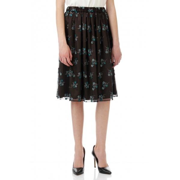 チュールカラー刺繍スカート/アリスバーリー(Aylesbury)
