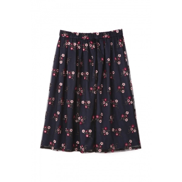 ◆大きいサイズ◆チュールカラー刺繍スカート/アリスバーリー(Lサイズ)(Aylesbury)
