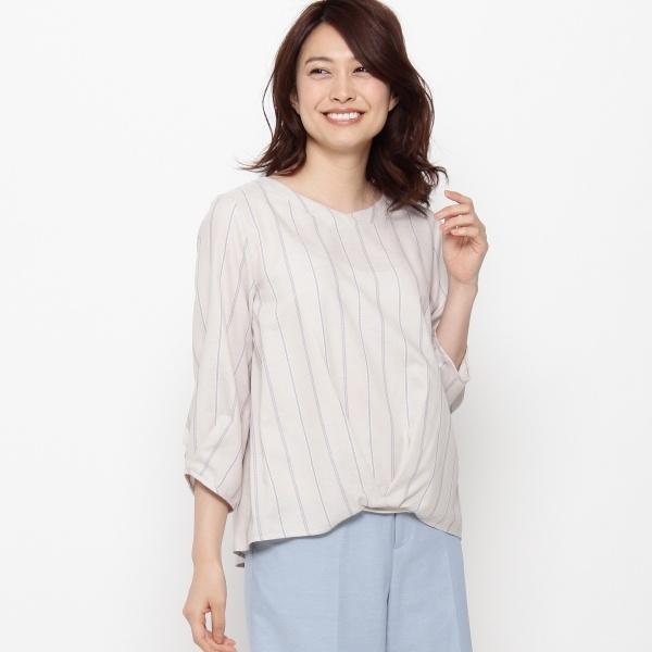 【洗える】エターナルストライプシャツ/エアパペル(Airpapel)