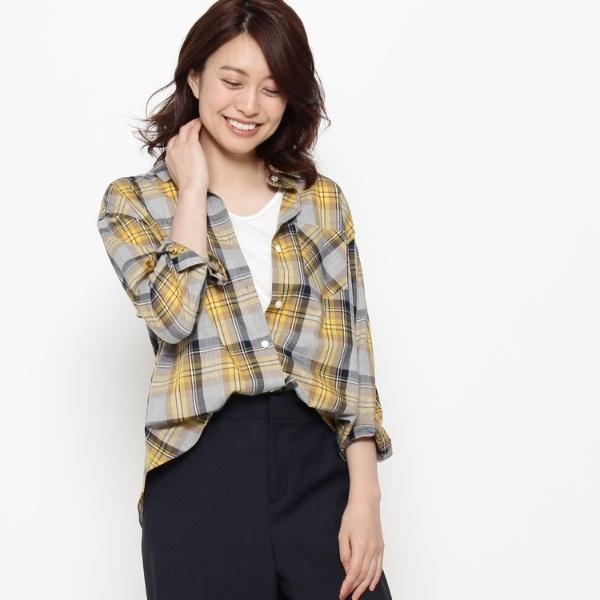 【洗える】オトヌチェックシャツ/エアパペル(Airpapel)